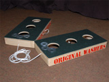 Original Washers Game - Carpeted Surface - Click to enlarge.